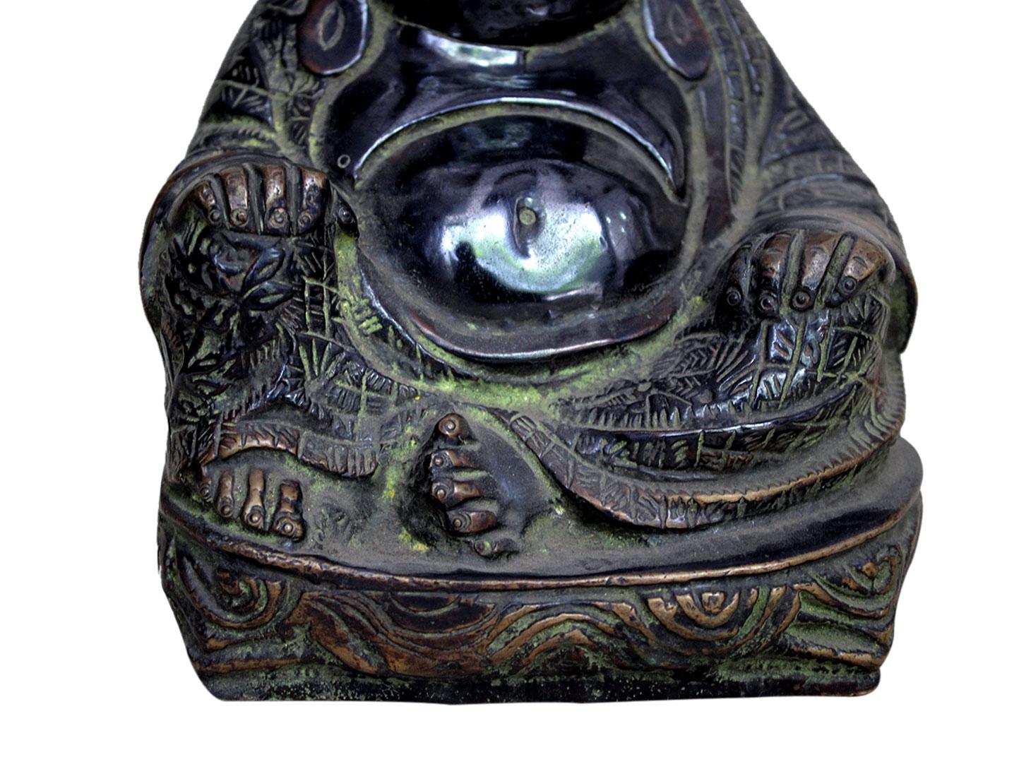 Brass Happy Buddha (Ht-7 Inches)