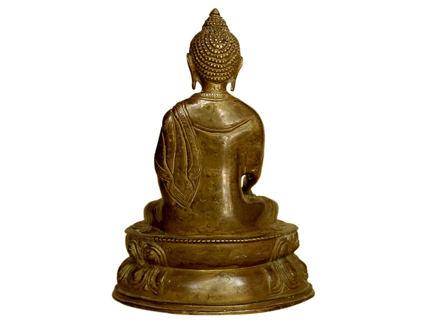 Brass Buddha (Ht-8.25 Inches)