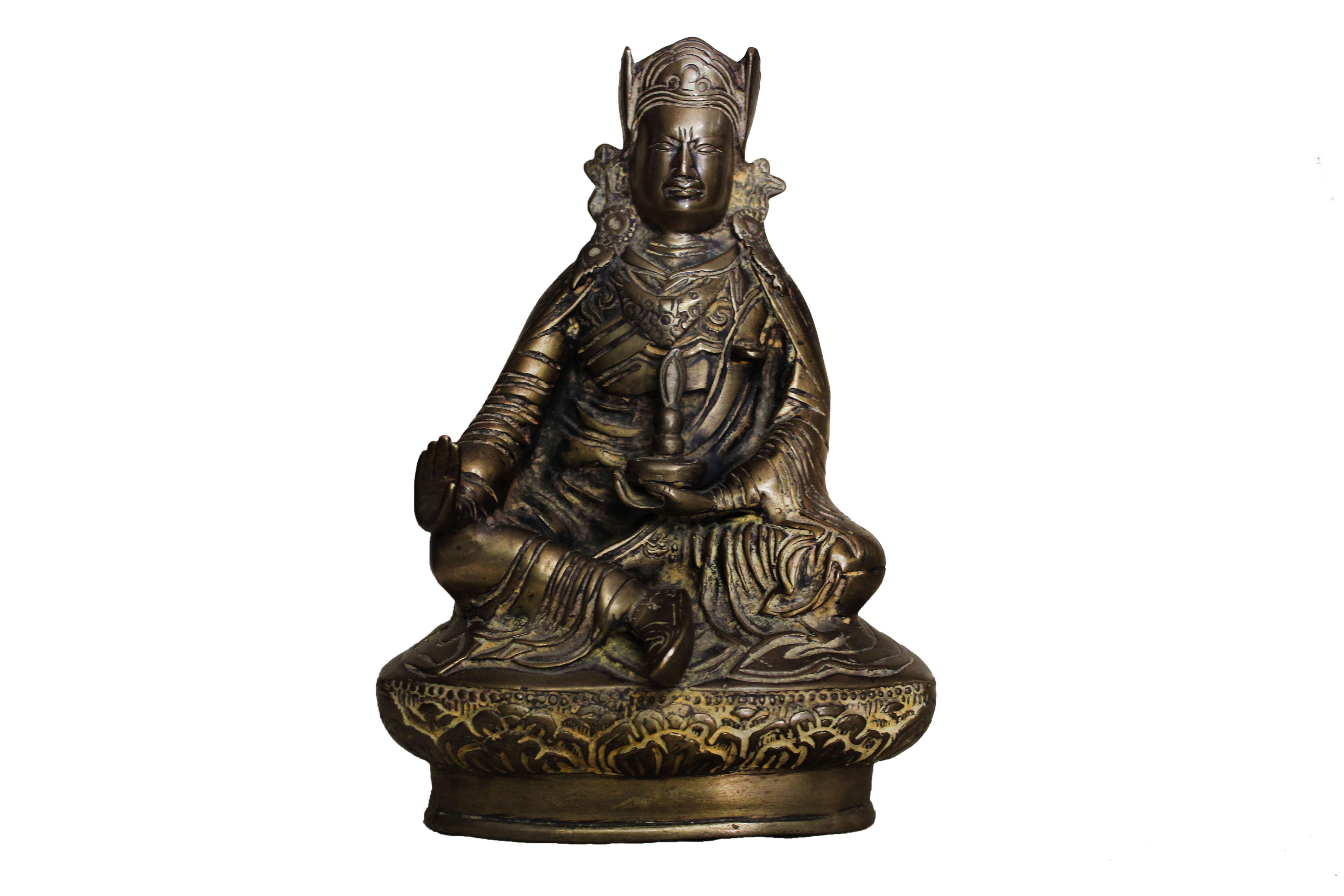 Brass Prince Buddha (Ht-7.9 Inches)