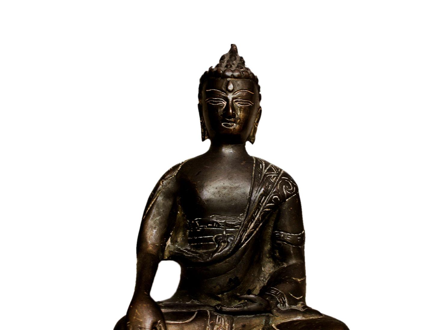 Brass Buddha (Ht-9 Inches)