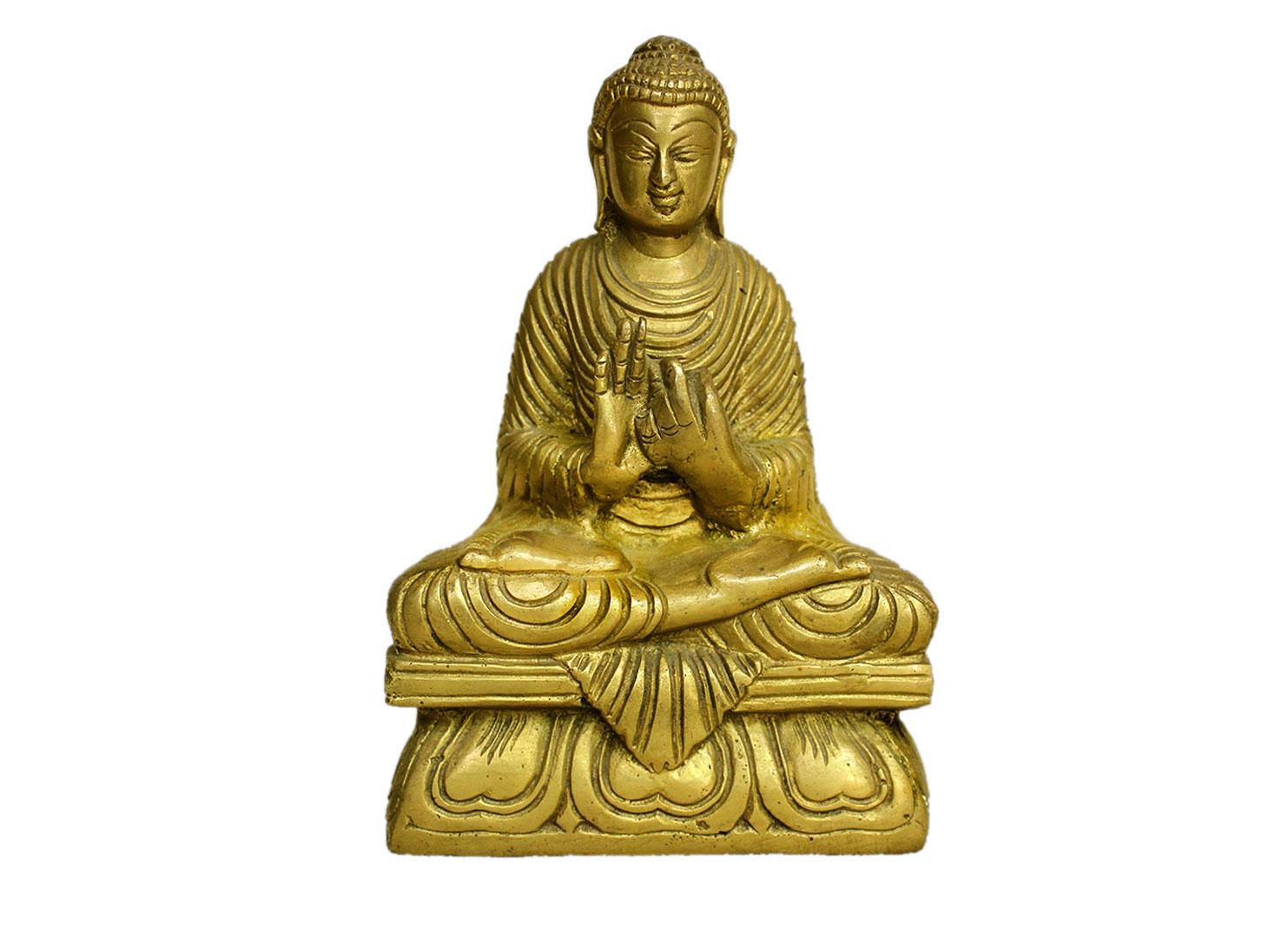 Brass Buddha (Ht-5.9 Inches)