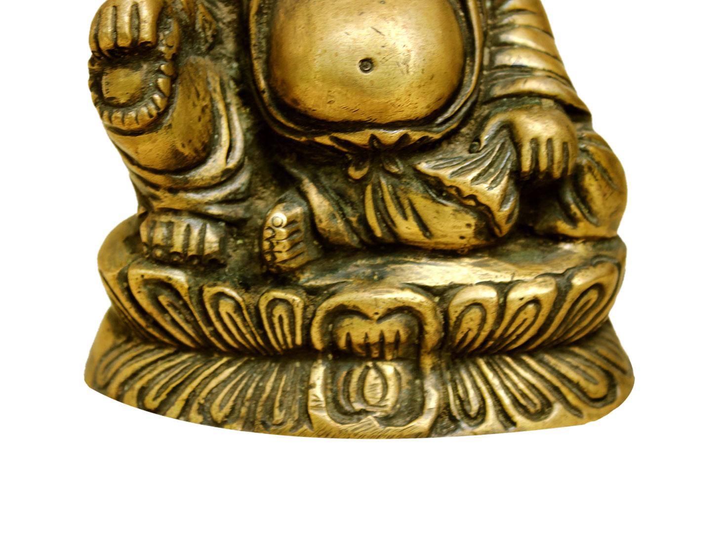 Brass Happy Buddha (Ht-5.5 Inches)