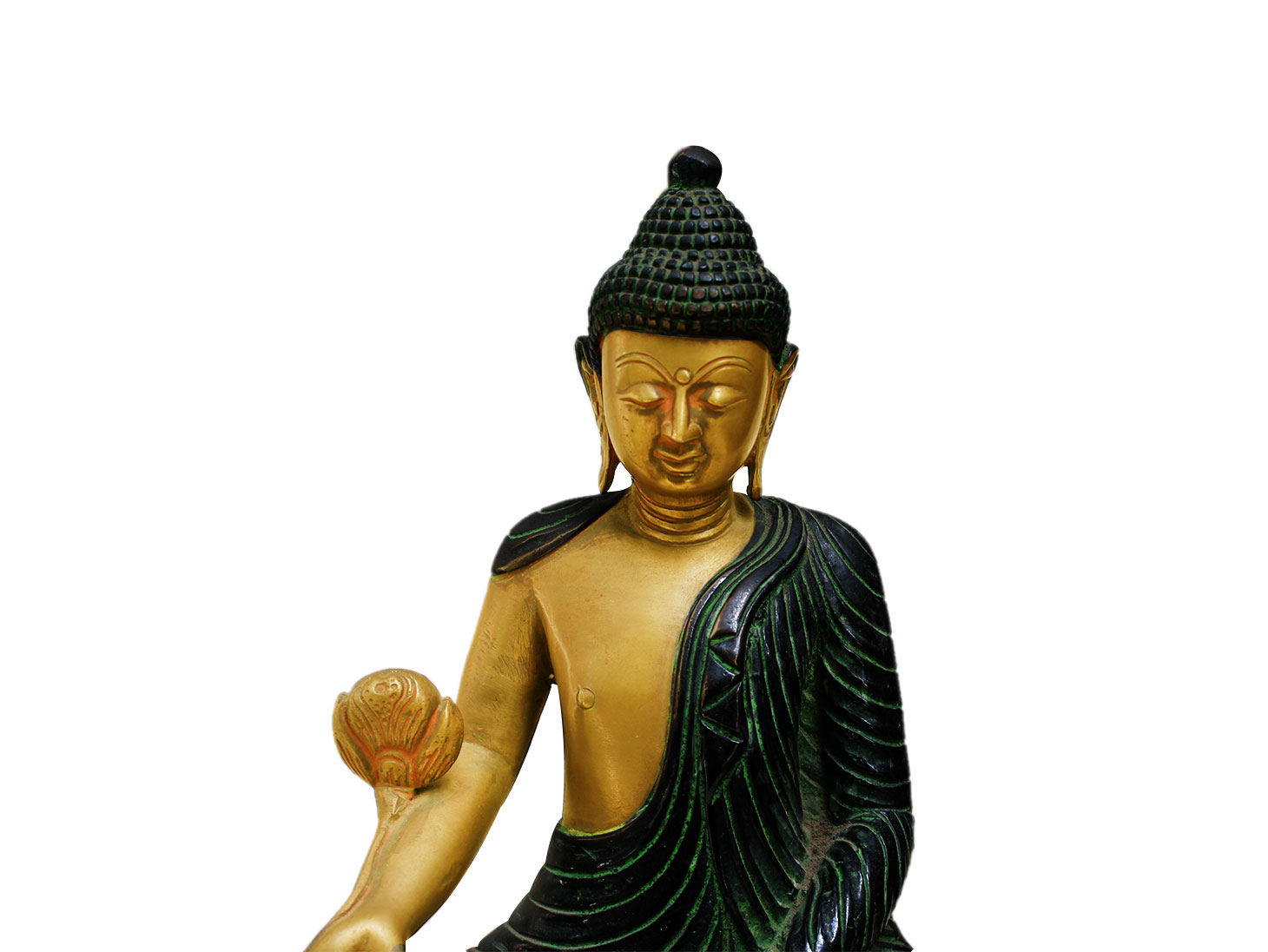 Brass Buddha (Ht-11 Inches)