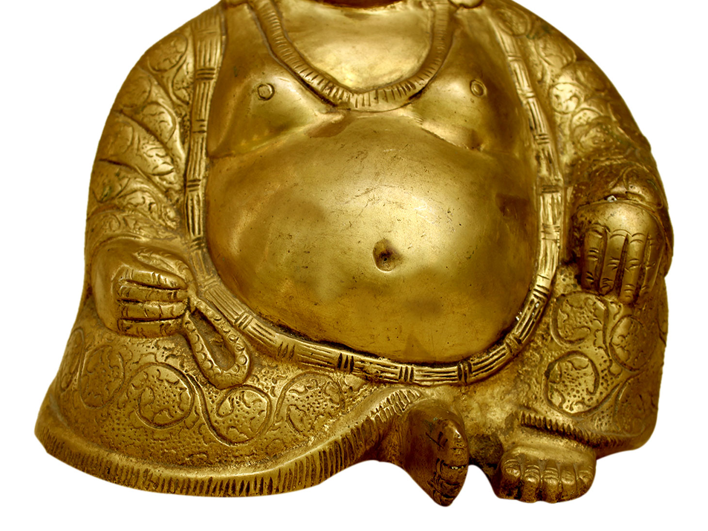 Brass Happy Buddha (Ht-7.5 Inches)