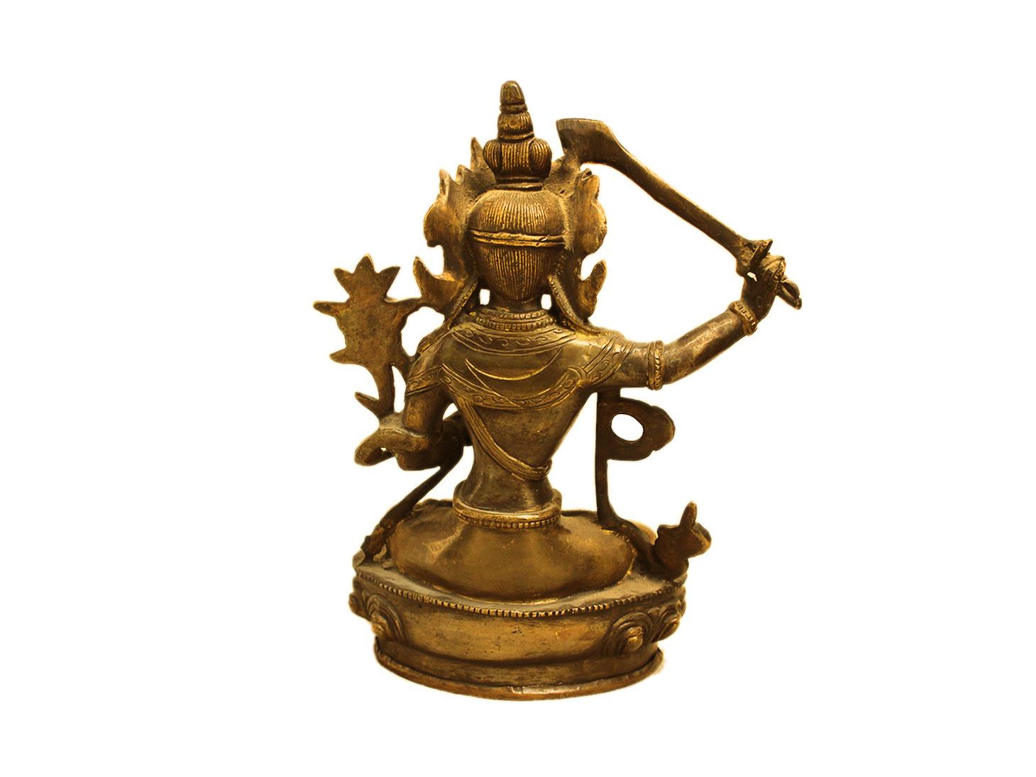 Brass Manjushri (Ht-8.25 Inches)