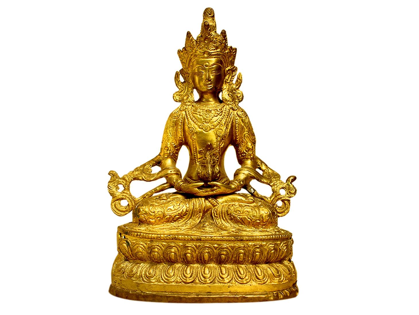 Amitayus Buddha (Ht-8.7 Inches)