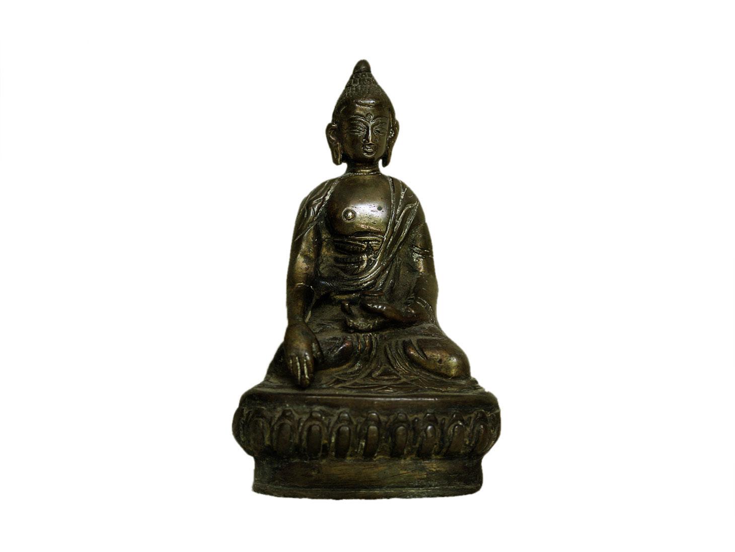 Brass Buddha (Ht-4.7 Inches)