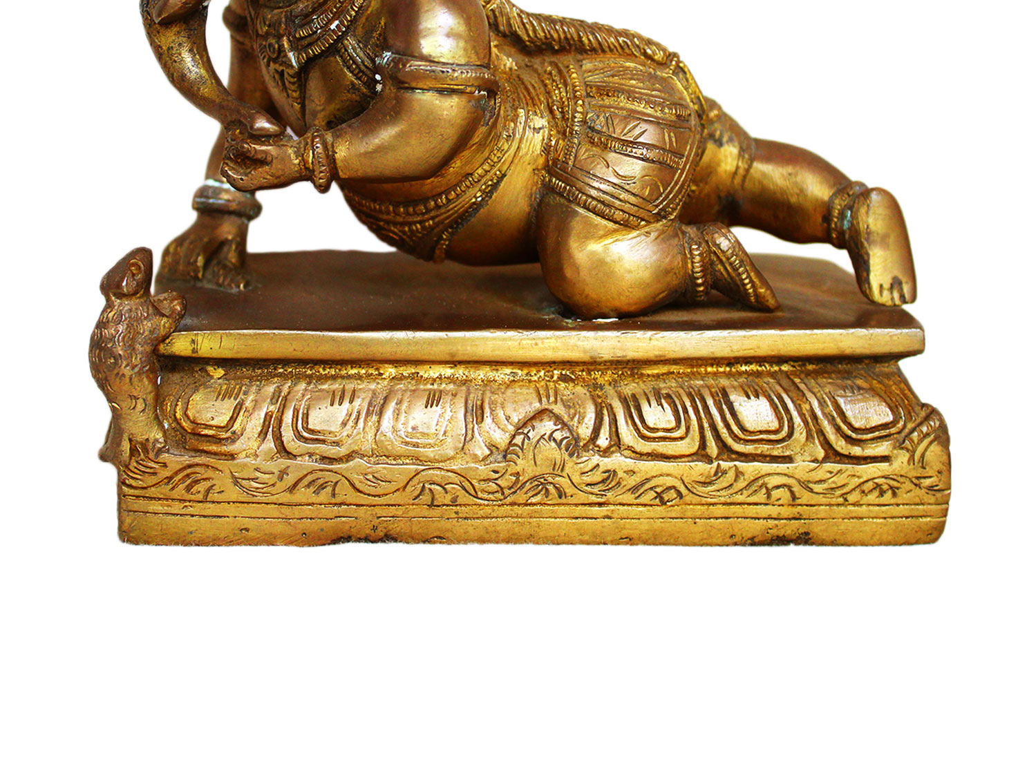 Brass Ganesha (Ht-5.1 Inches)