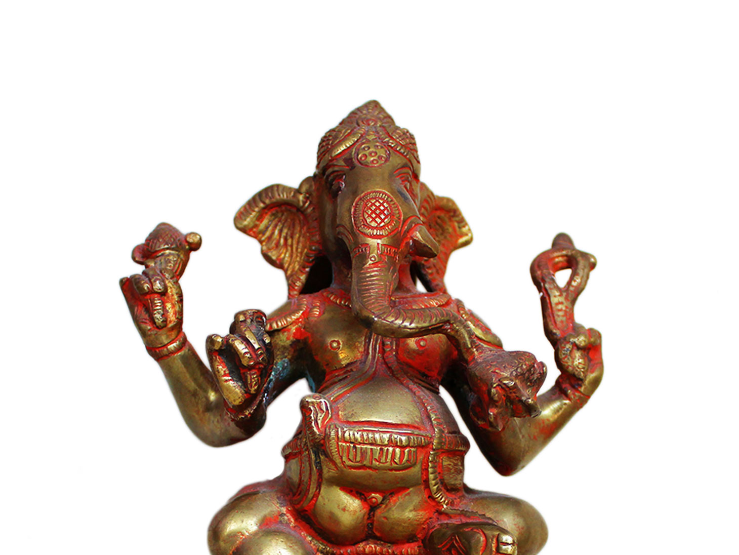 Brass Ganesha (Ht-7.9 Inches)