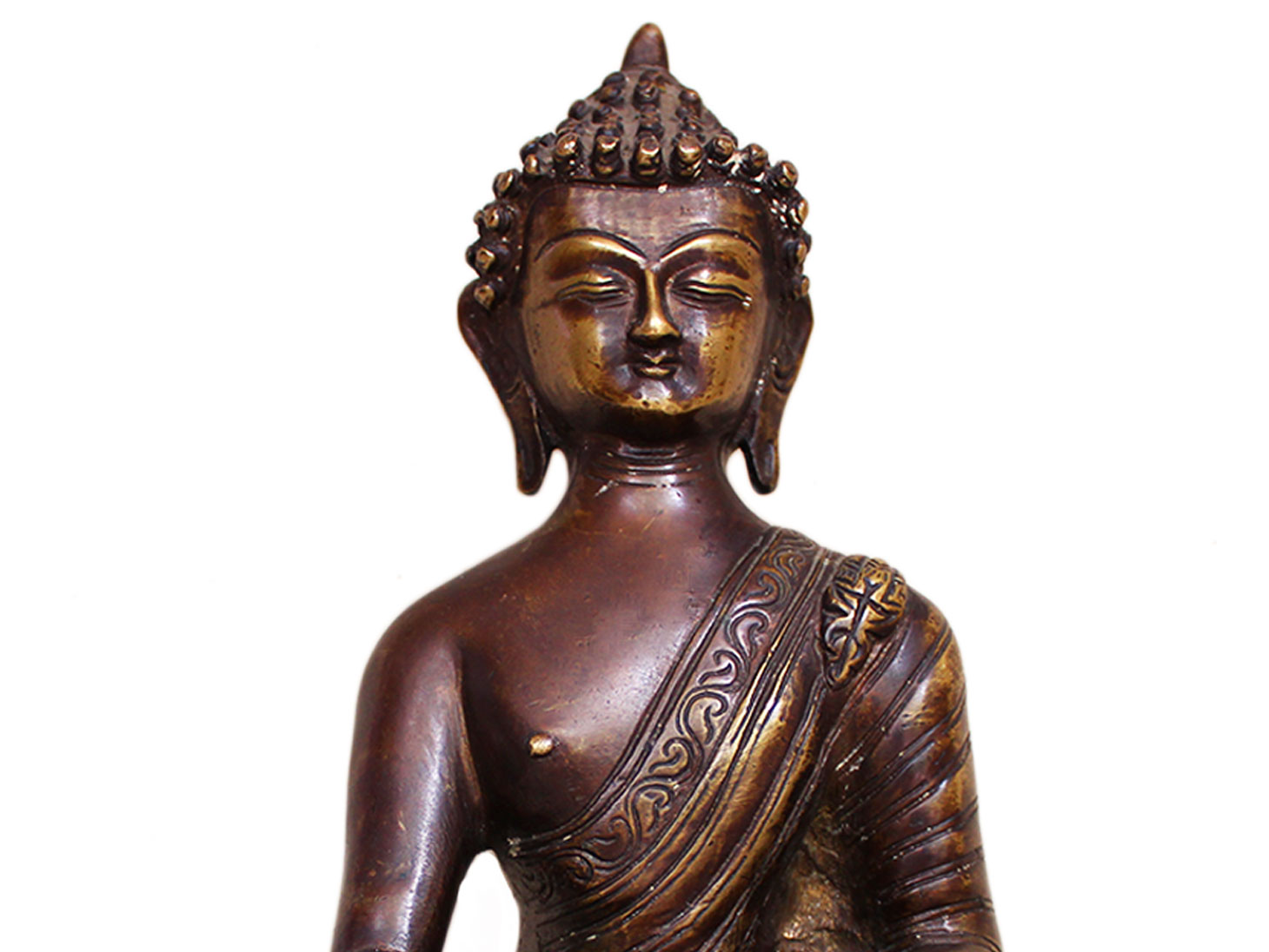 Brass Buddha (Ht-9.5 Inches)