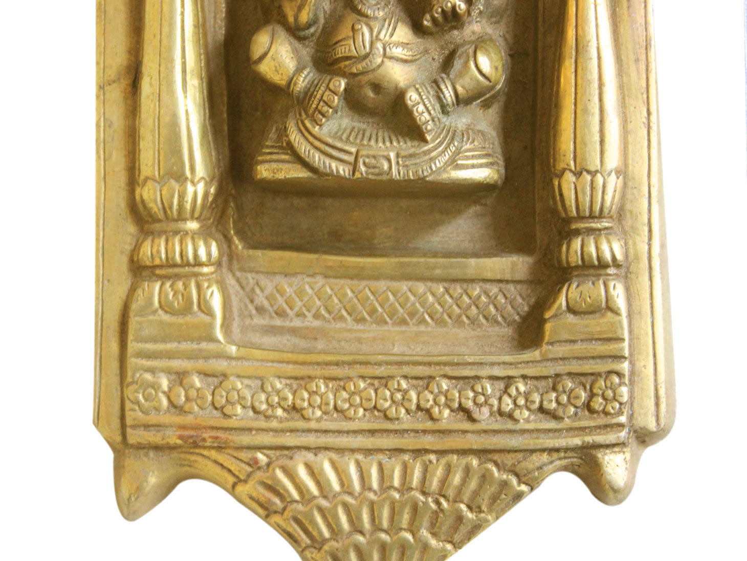 Brass Ganesha (Ht-8.25 Inches)