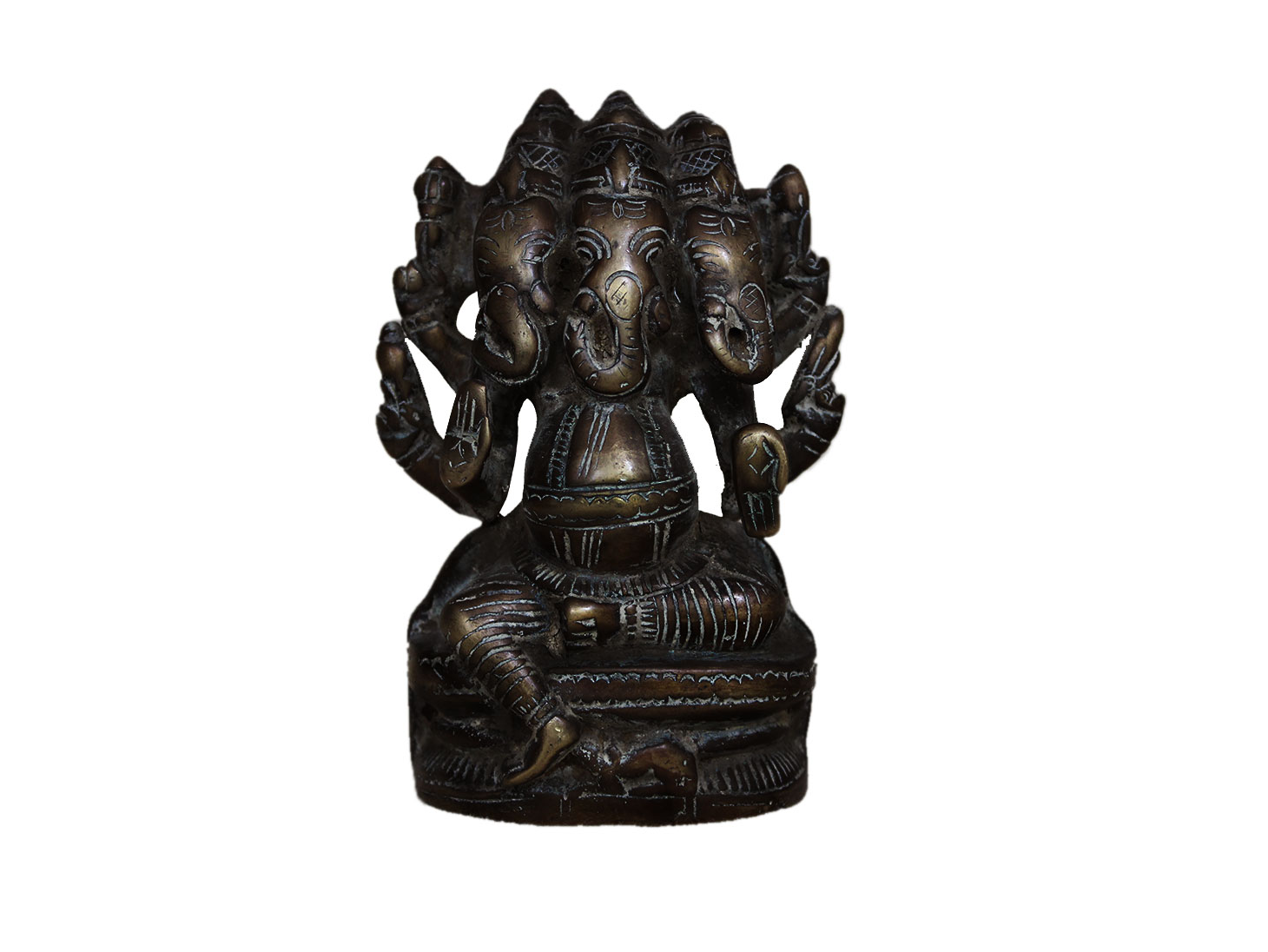Brass Ganesha (Ht-5.3 Inches)