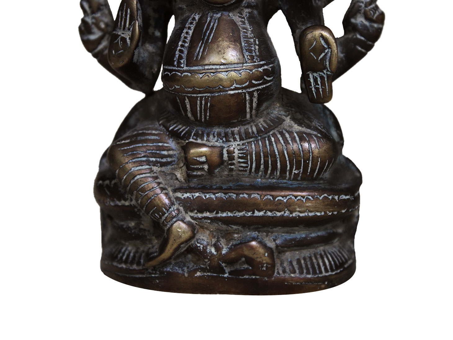 Brass Ganesha (Ht-5.3 Inches)