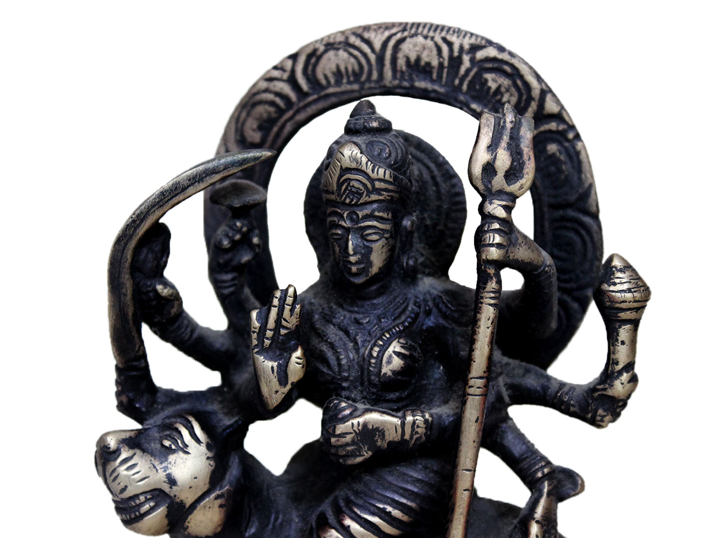 Brass Durga (Ht-5.9 Inches)