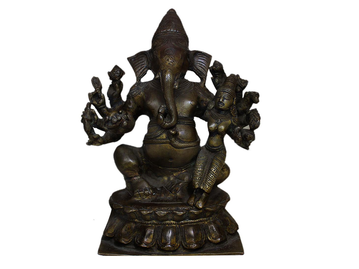 Brass Ganesha (Ht-9 Inches)