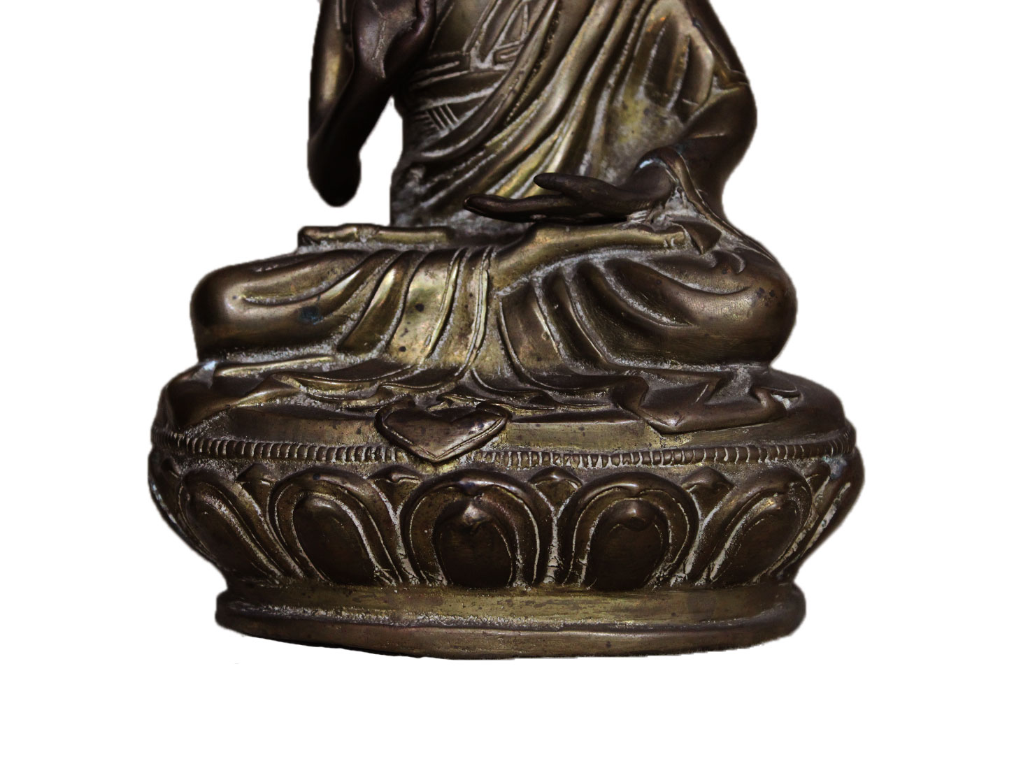 Brass Tibet Buddha (Ht-9.25 Inches)