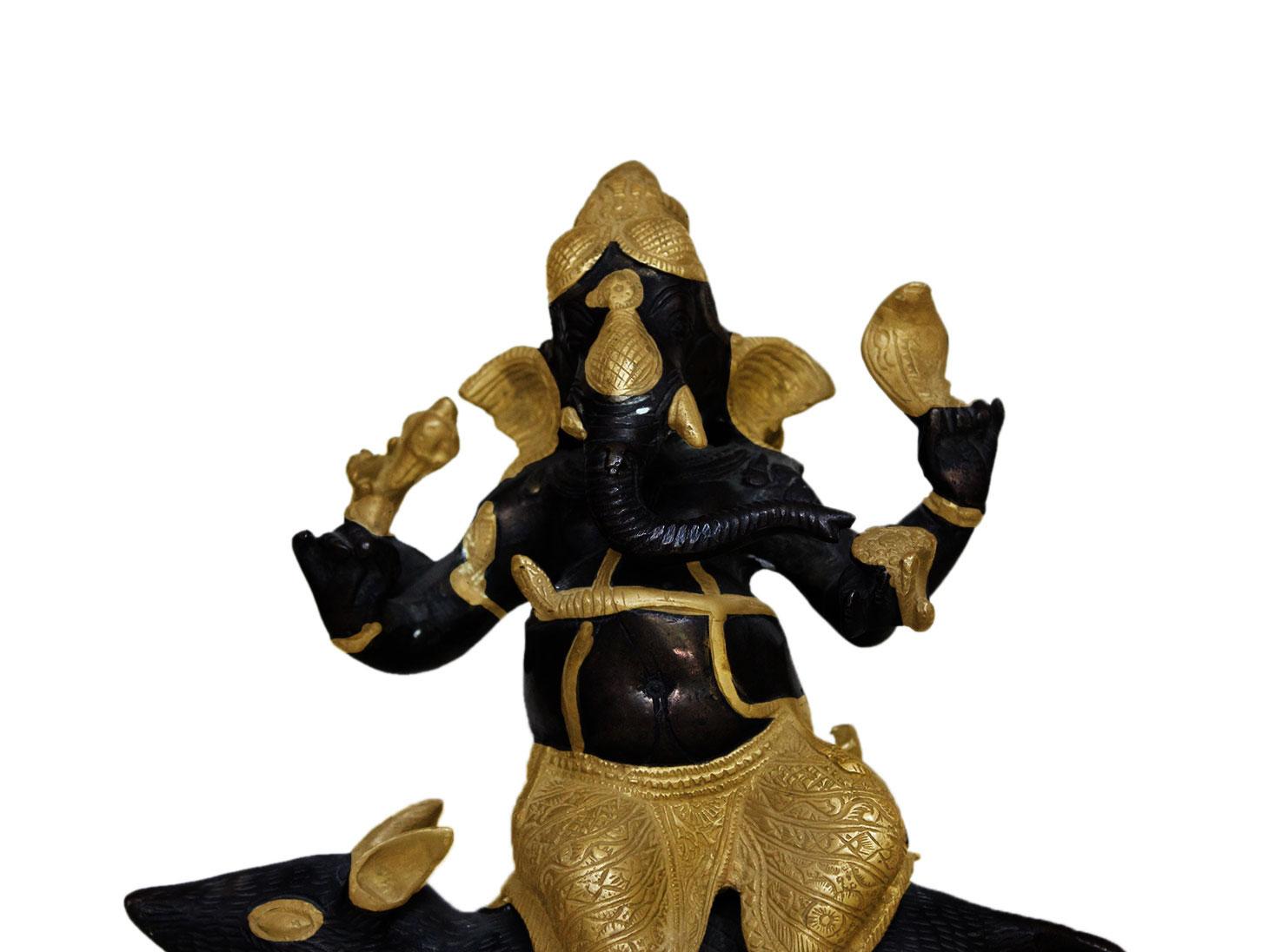 Brass Ganesha (Ht- 10.8 Inches)
