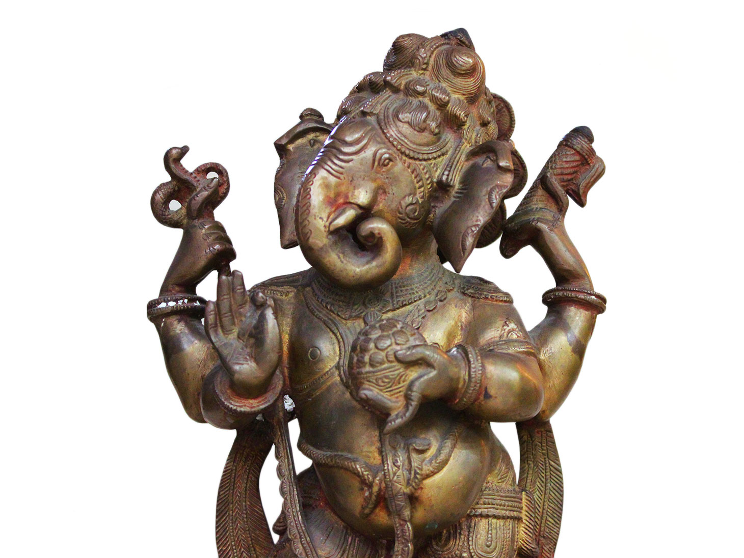 Brass Ganesha (Ht- 13.4 Inches)