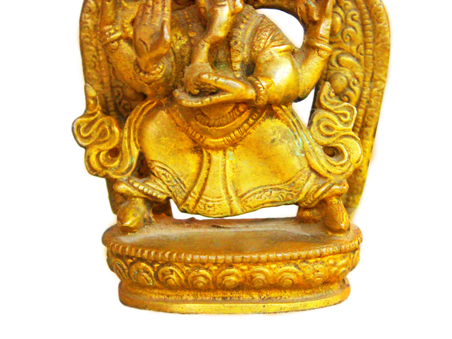 Brass Ganesha (Ht- 6.3 Inches)