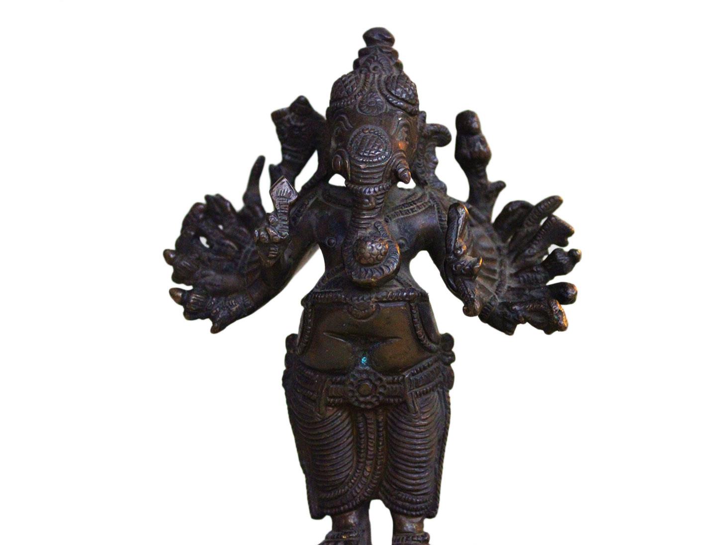 Brass Ganesha (Ht- 6.1 Inches)
