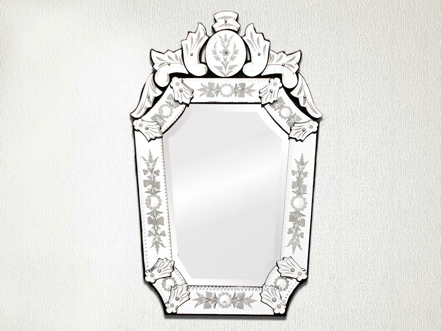 Vintage Venetian Mirror-23.75 inches X 14 inches