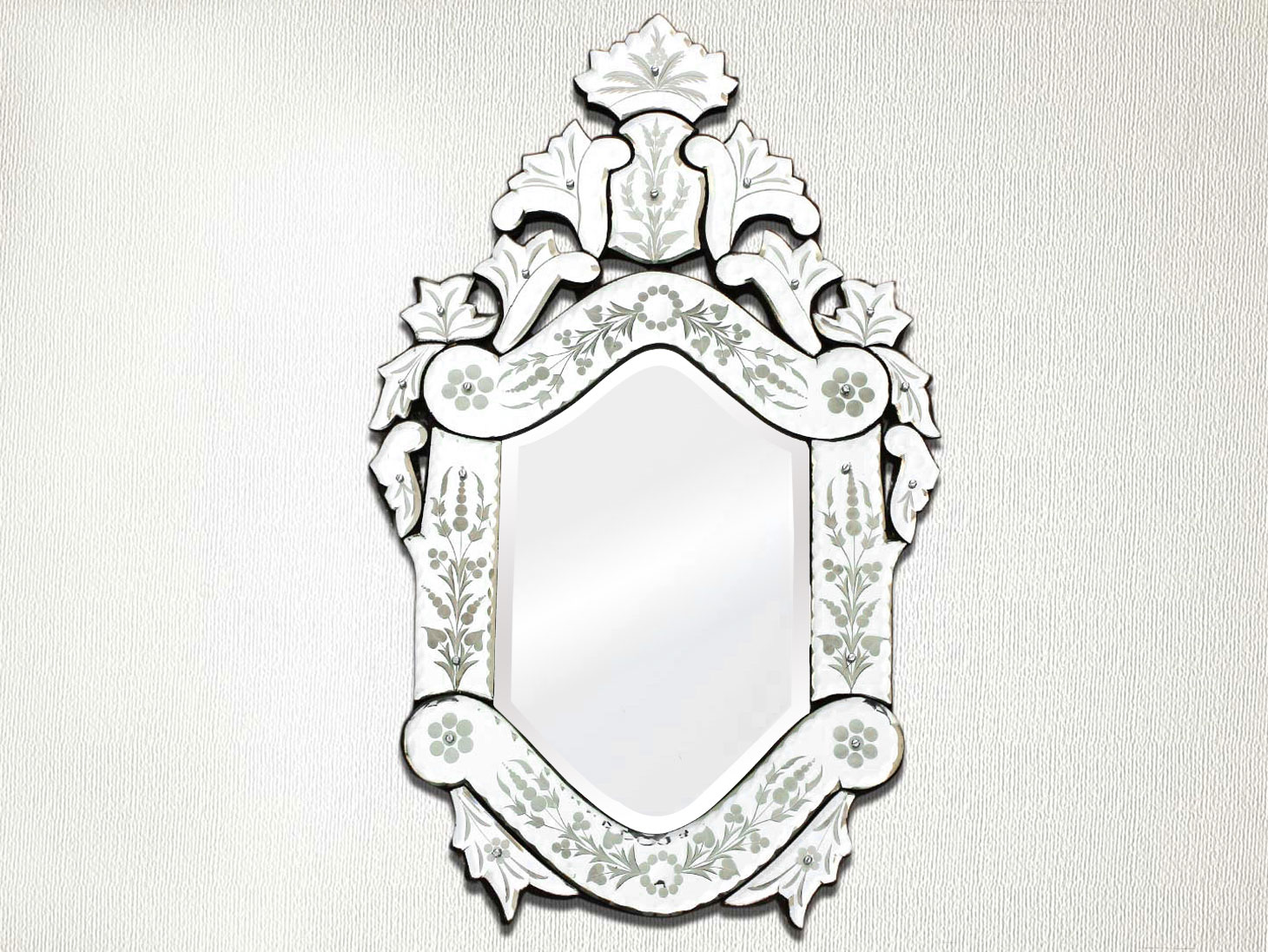 Vintage Venetian Mirror-24.5 inches X 15 inches