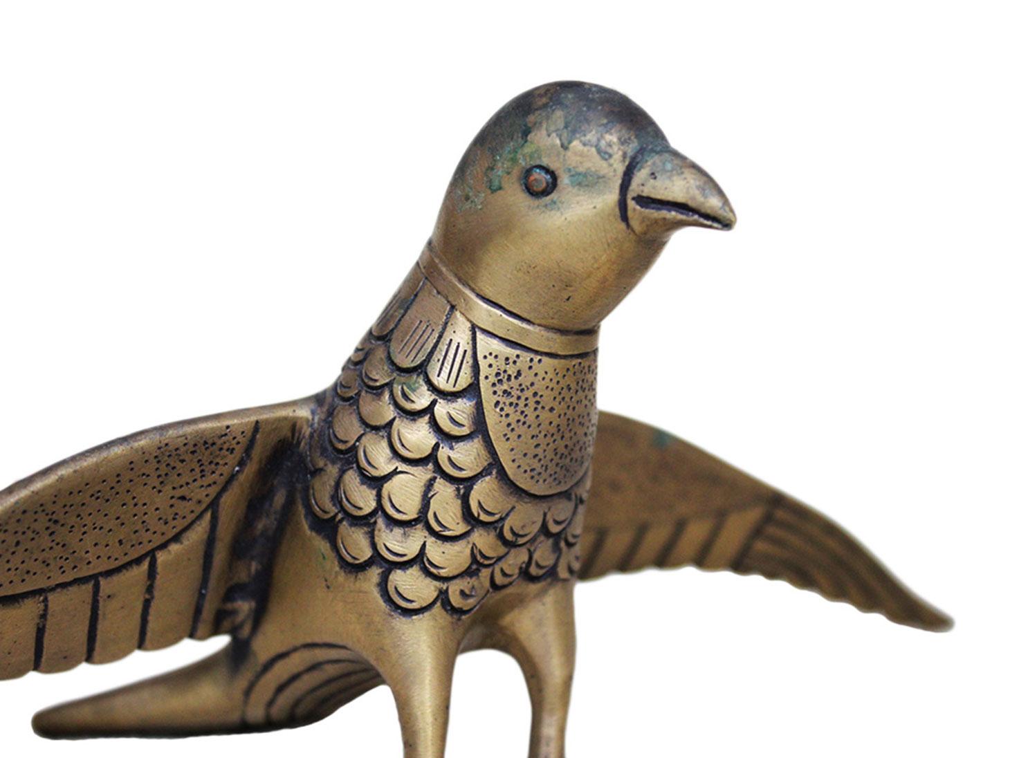 Brass Bird Ht-3.9 Inches