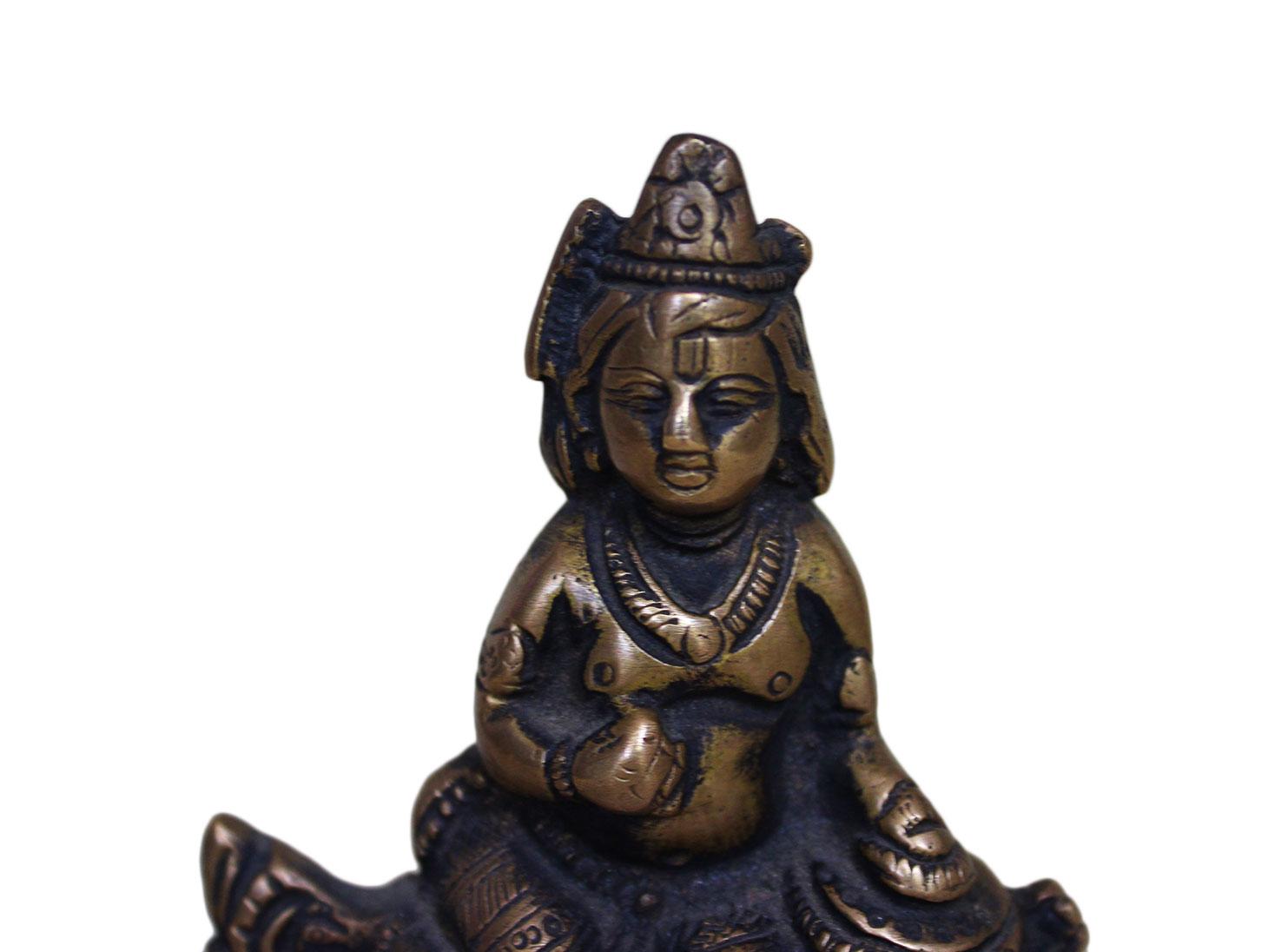 Brass Krishna (Ht-3.5 Inches)