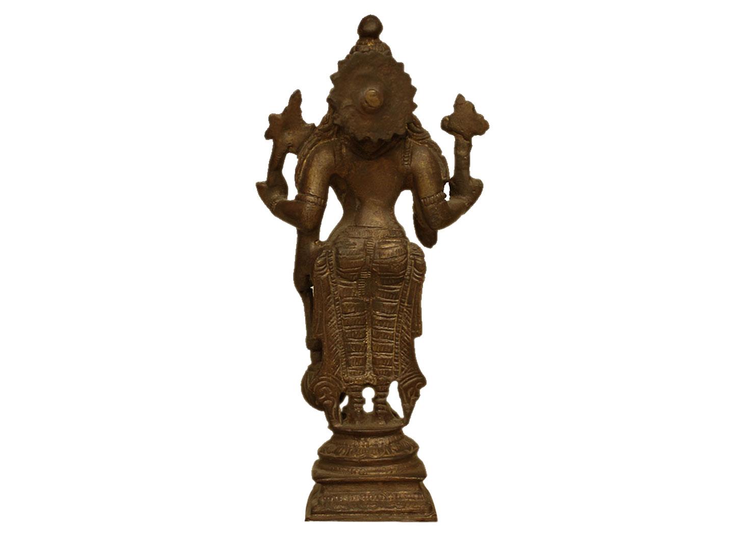 Brass Vishnu (Ht-6.7 Inches)