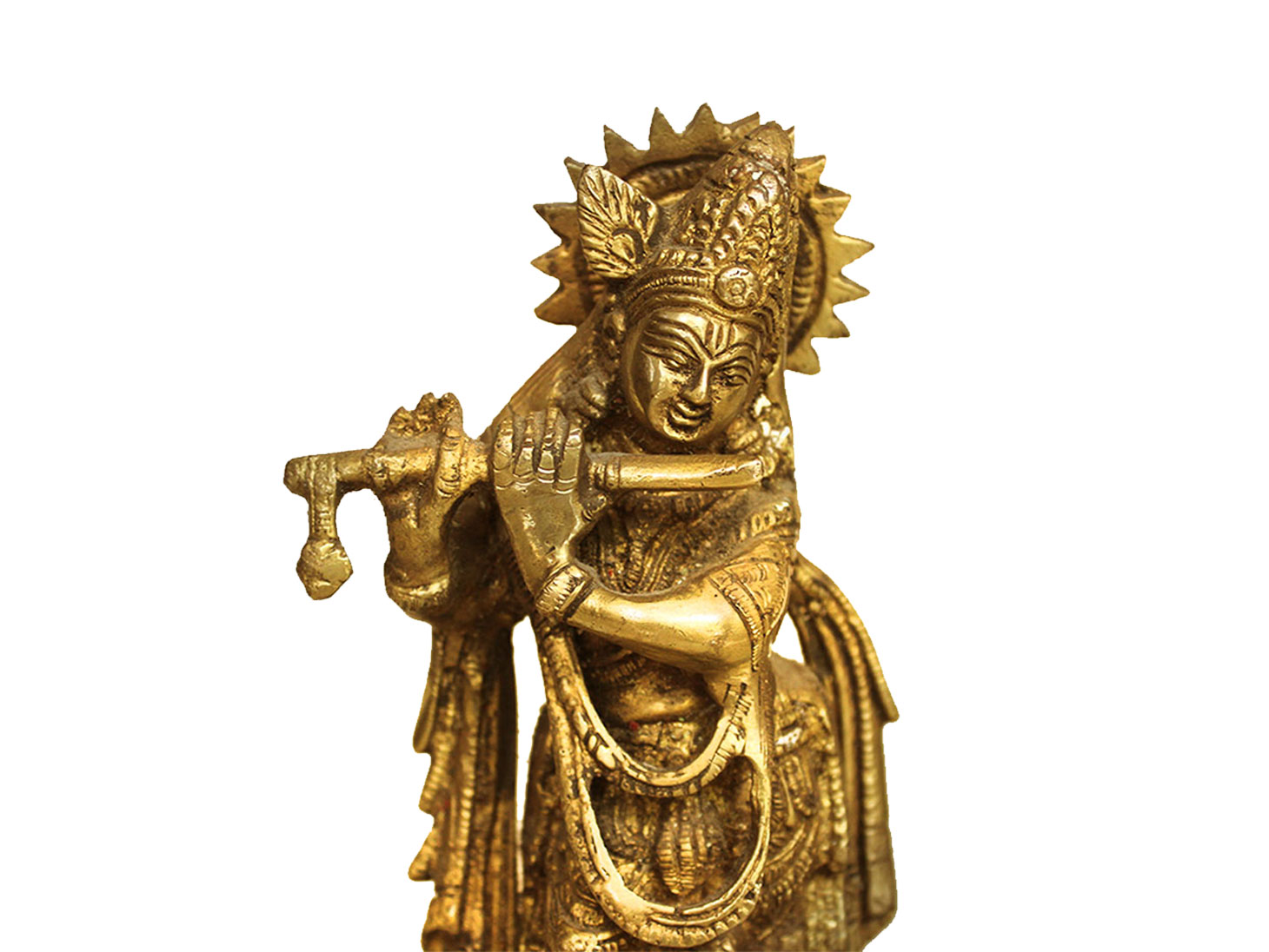Brass Krishna (Ht-7.3 Inches)