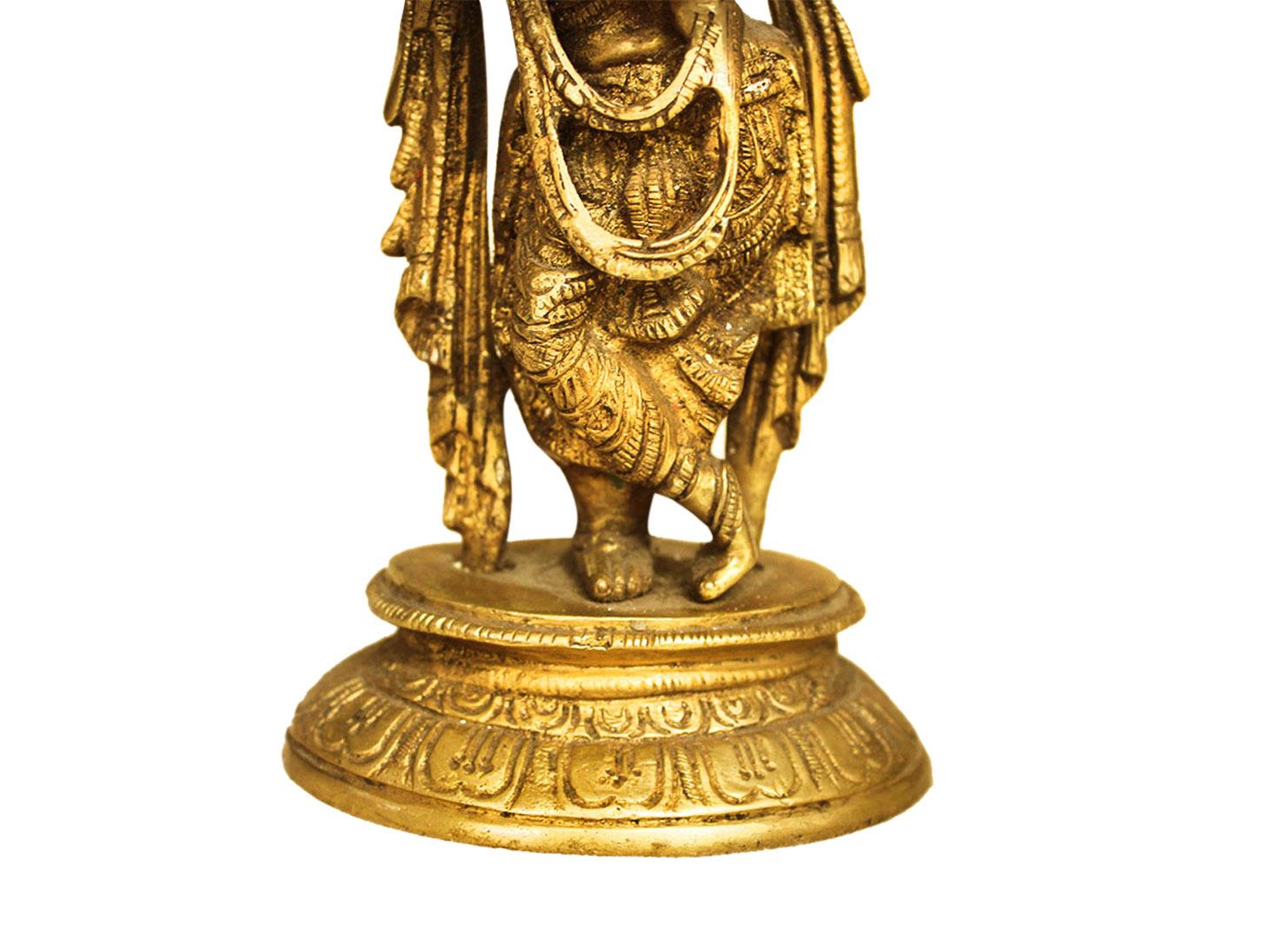 Brass Krishna (Ht-7.3 Inches)