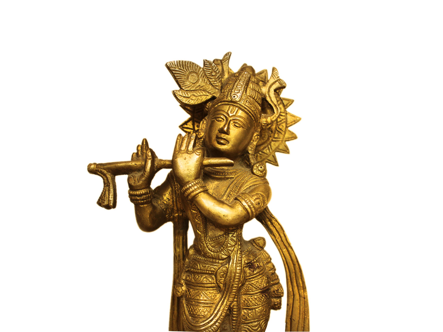 Brass Krishna (Ht-8 Inches)