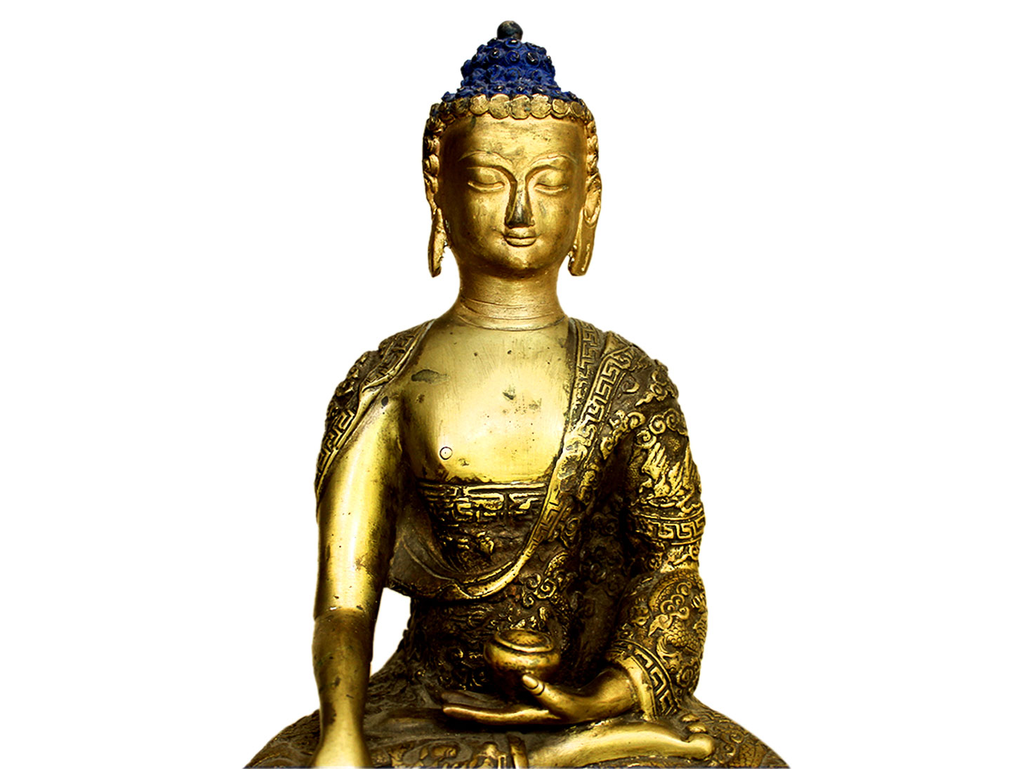 Brass Buddha (Ht-11 Inches)