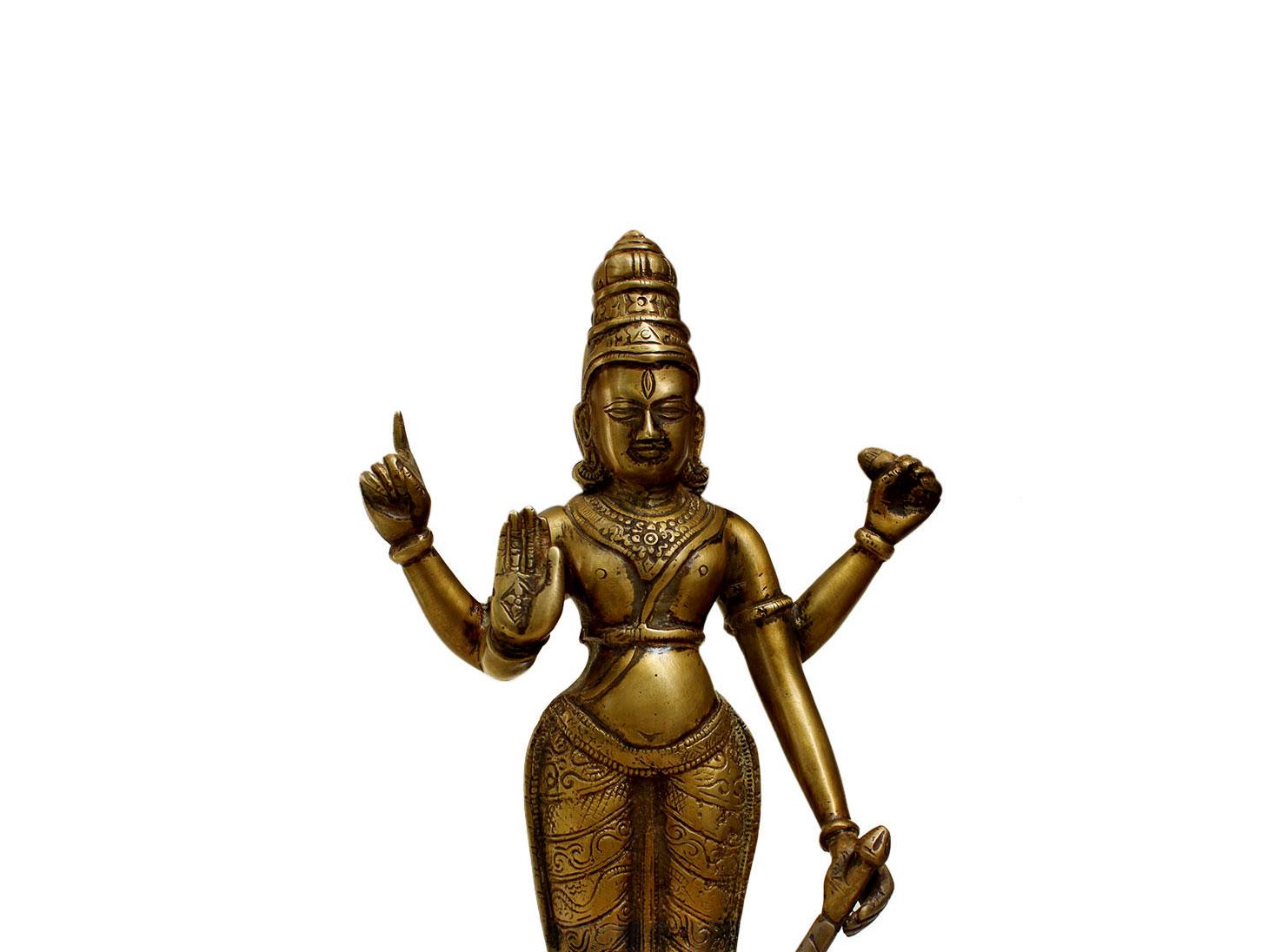 Brass Vishnuji (Ht-13.4 Inches)