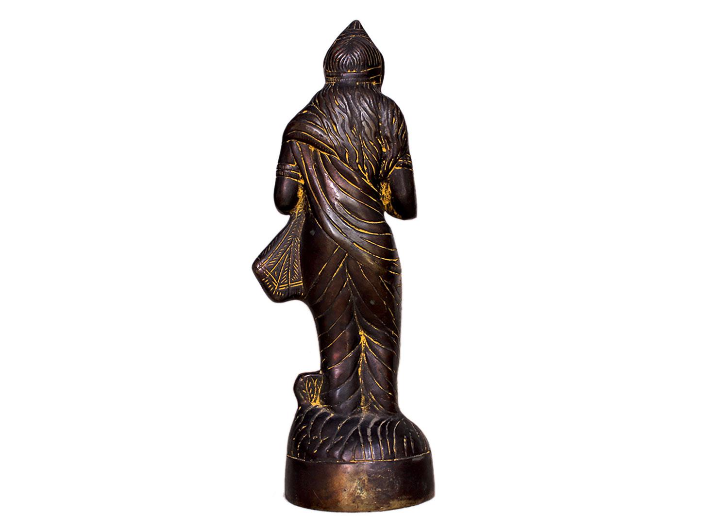 Brass Parvati (Ht-11.4 Inches)