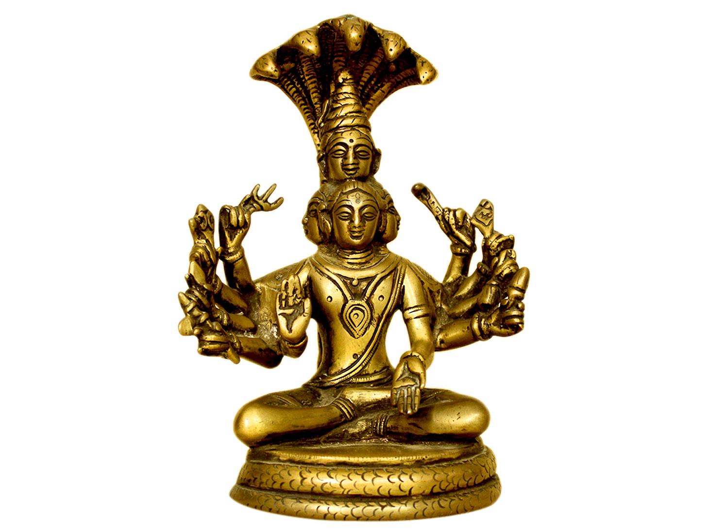 Brass Shiva (Ht-7.9 Inches)