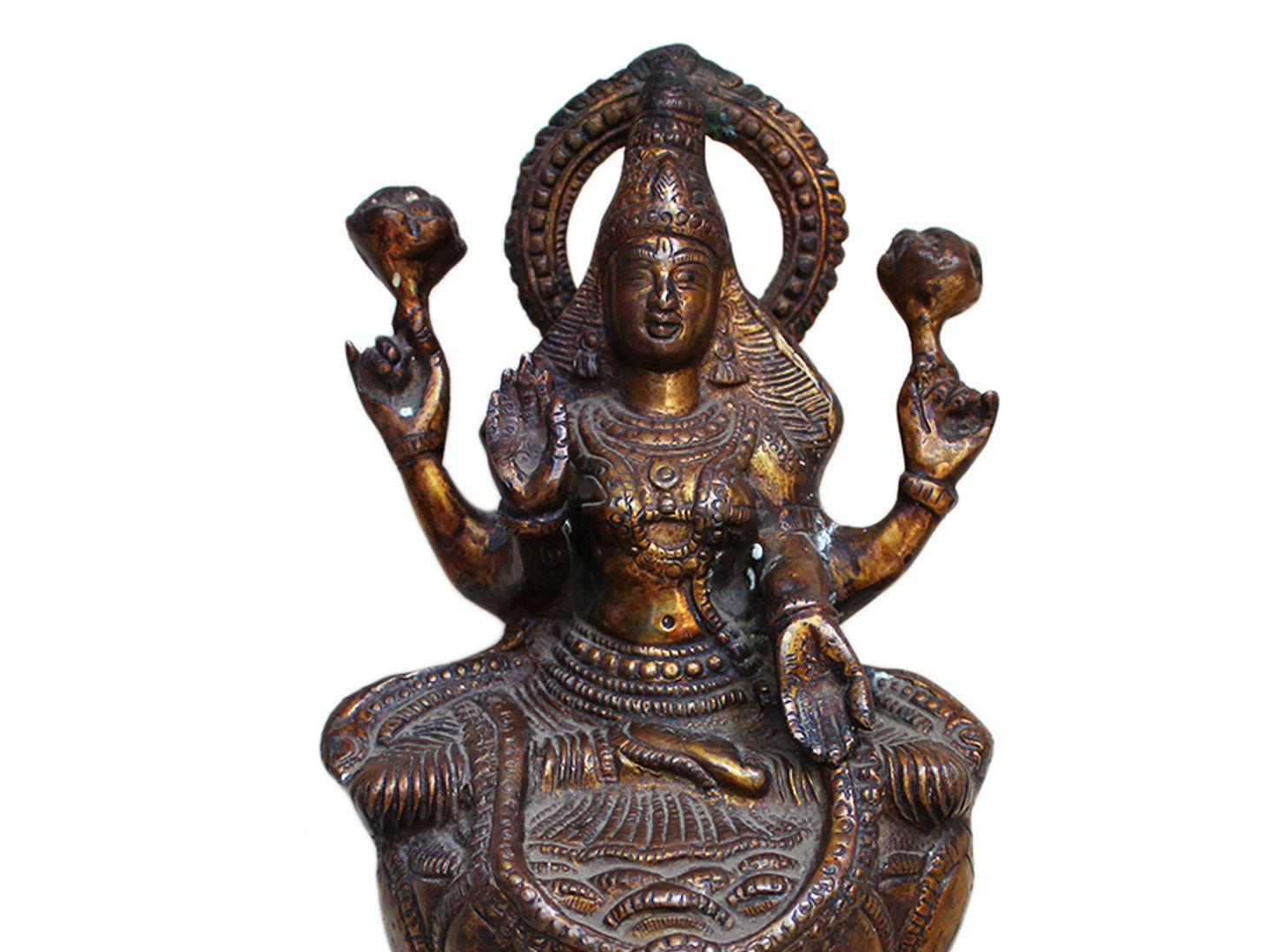 Brass Laxmi (Ht-9.5 Inches)