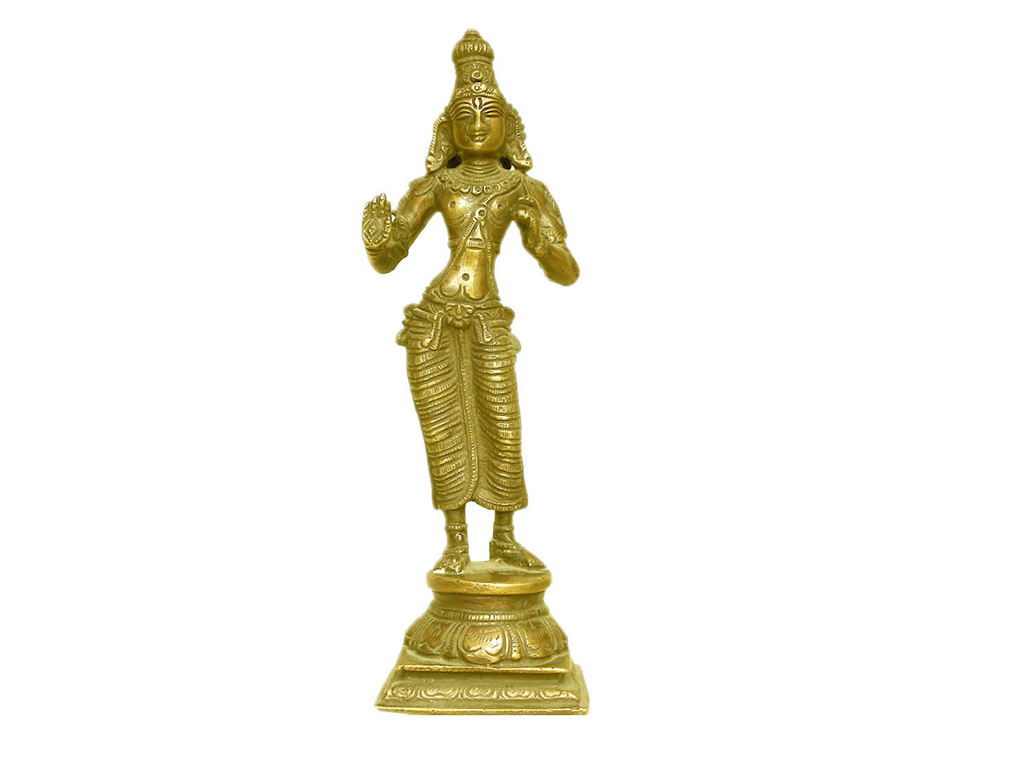 Brass Vishnu (Ht-9 Inches)