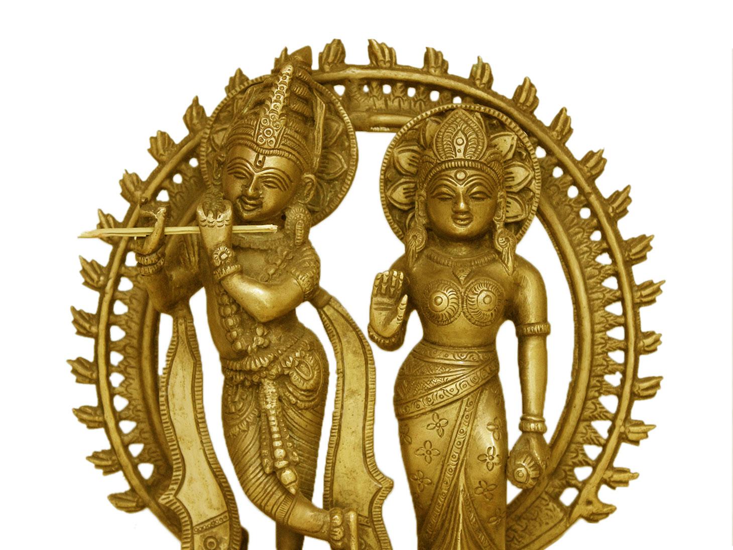 Brass Radha Krishna (Ht-10.6 Inches)
