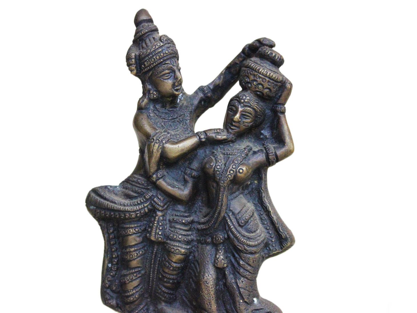 Brass Radha Krishna (Ht-7.5 Inches)