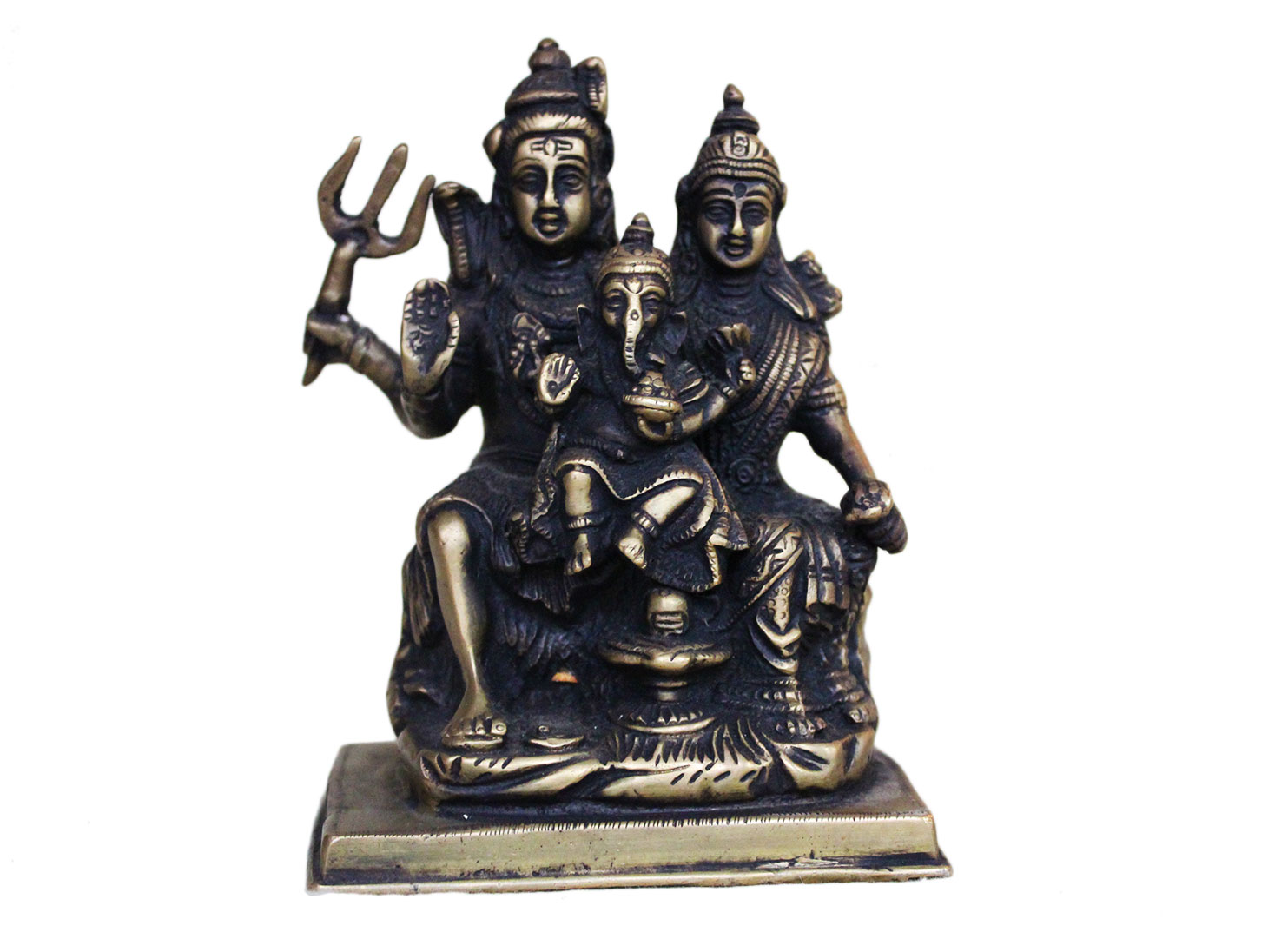 Brass Shiv Parvati (Ht-5.5 Inches)