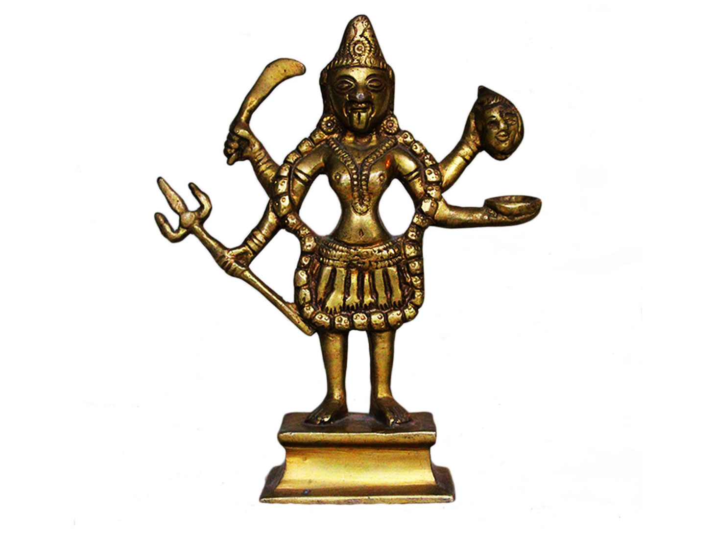 Brass Kali (Ht-6.2 Inches)