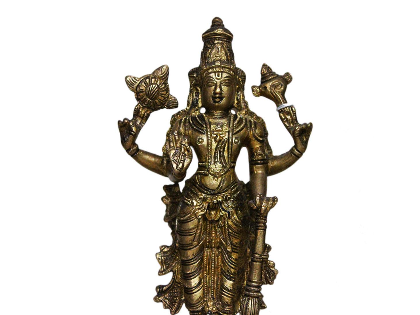 Brass Vishnu (Ht-9 Inches)