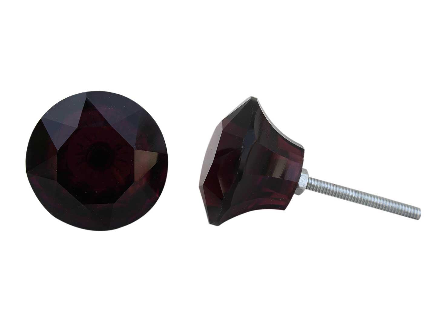 Dark Purple Cabinet Knobs Big