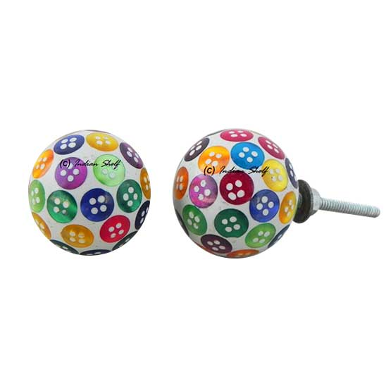 Multi-Colored Button Knob