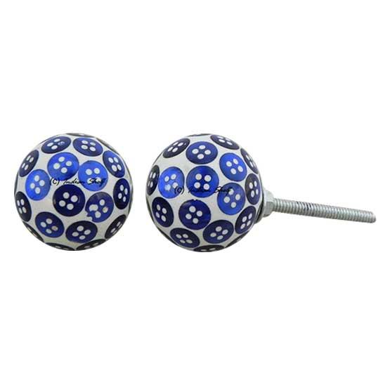 Blue Button Knob