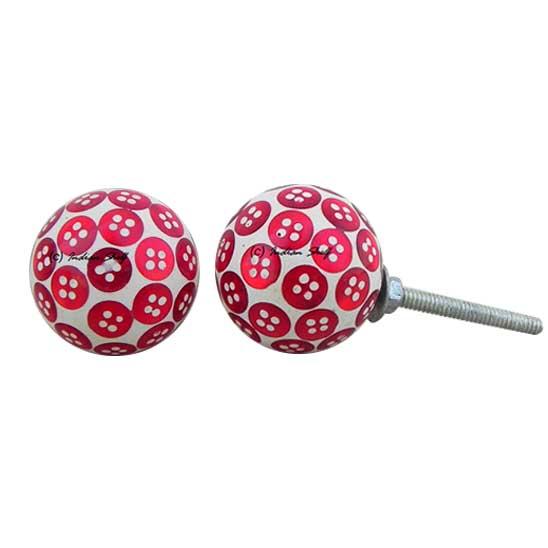Red Button Knob
