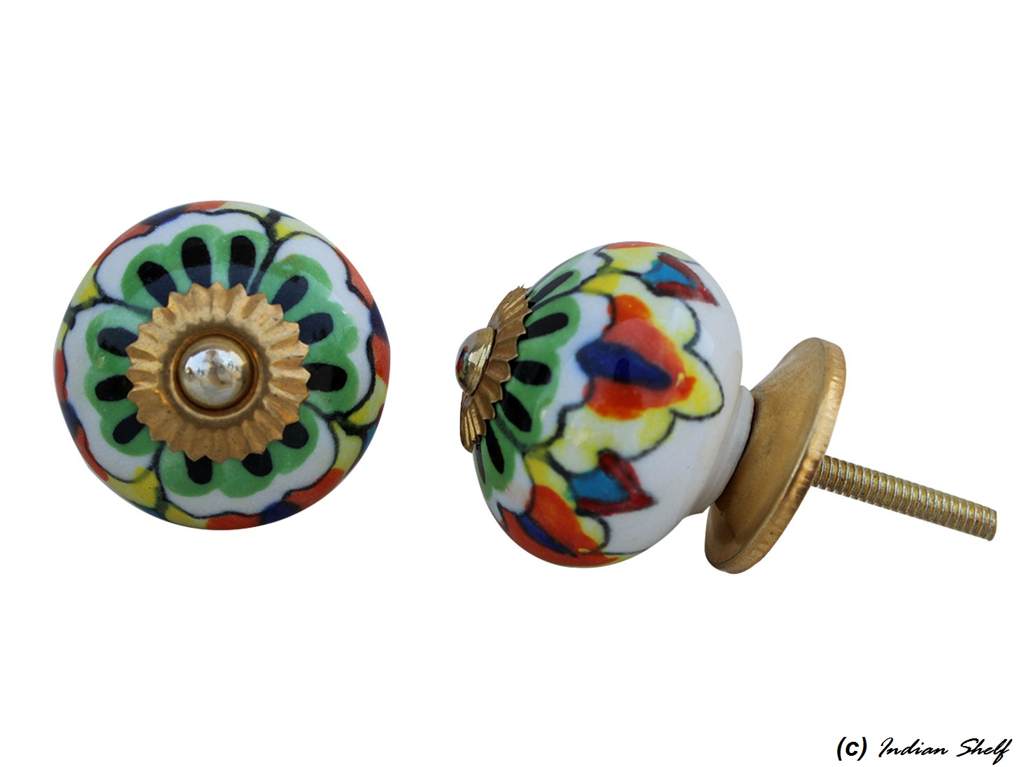 Colorful Round Drawer Knob