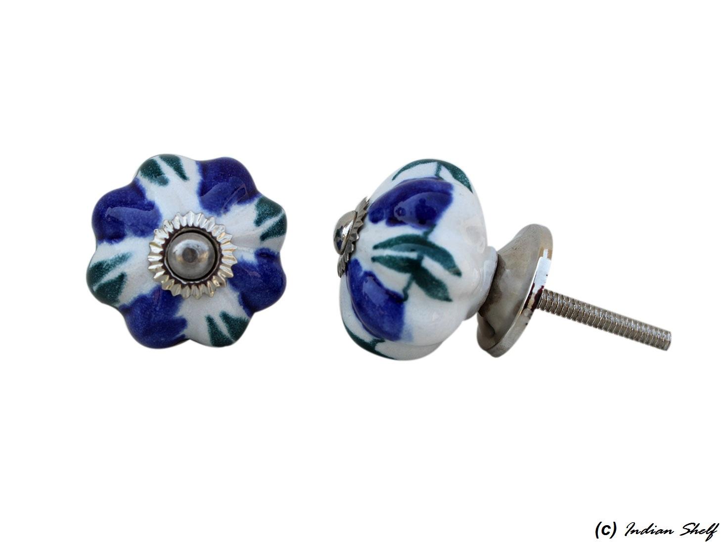 Navy Blue Medium Drawer Knob