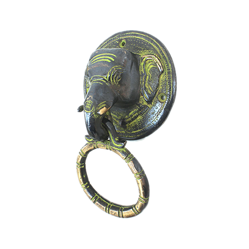 Antique Elephant Door Knocker-2